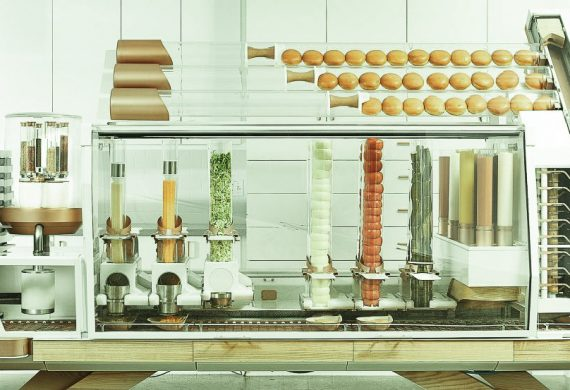 Hamburger made by robots